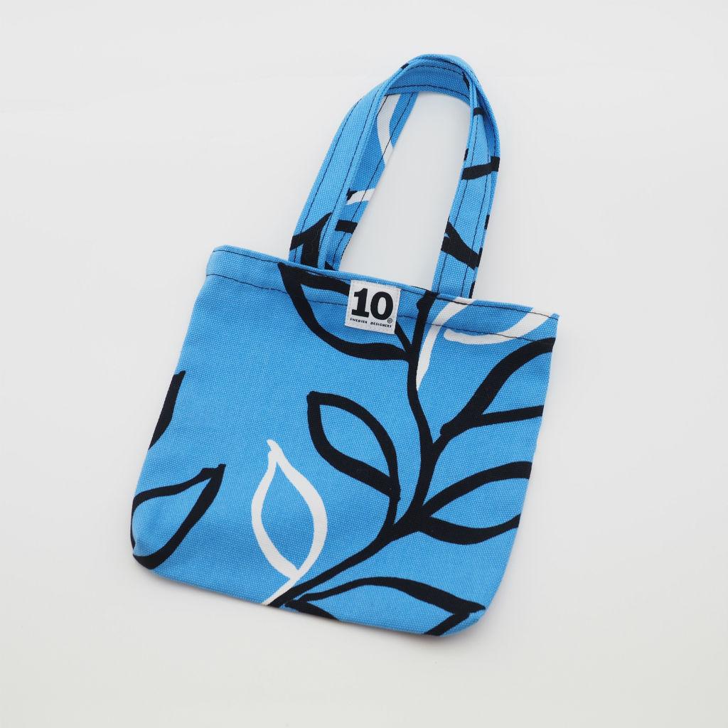 北欧スウェーデン スモールキャンバスバッグ Vide blue / 10gruppen1
