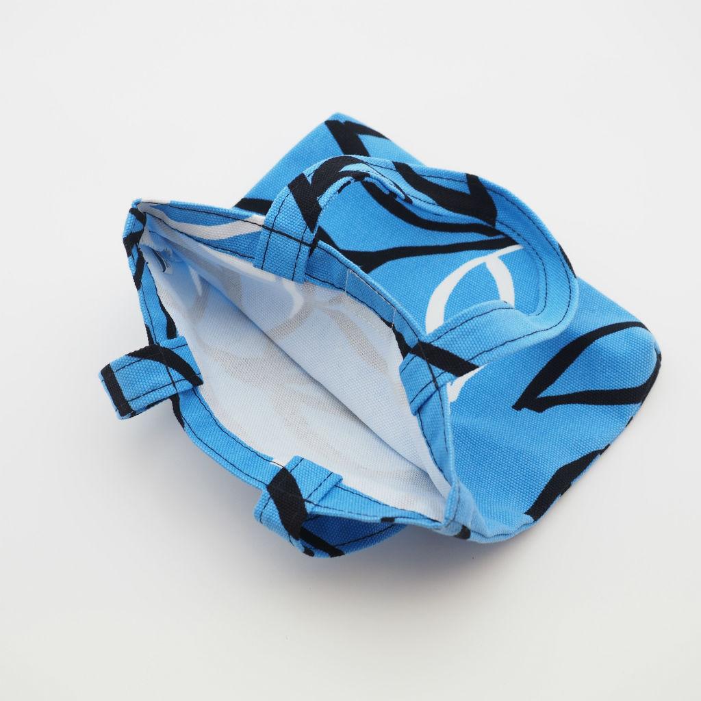 北欧スウェーデン スモールキャンバスバッグ Vide blue / 10gruppen3