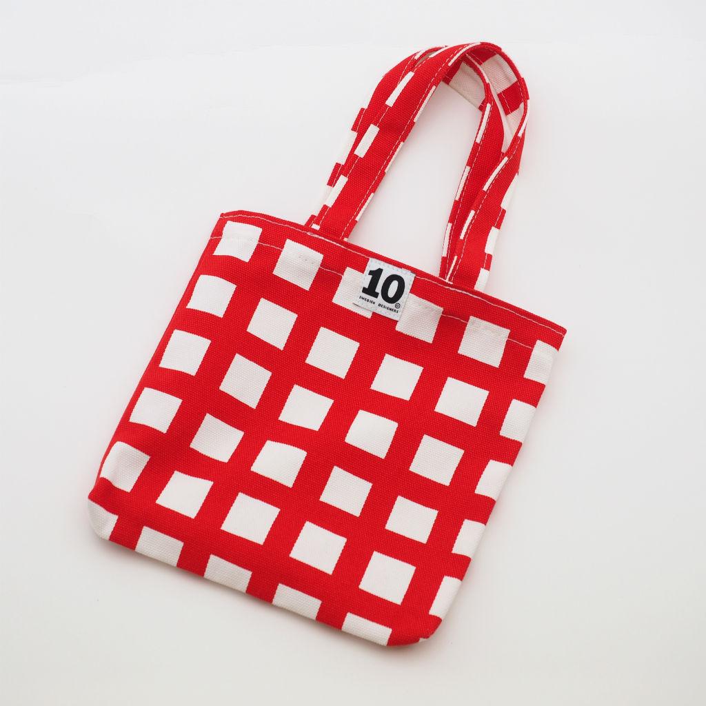 北欧スウェーデン スモールキャンバスバッグ Ripp Red / 10gruppen1