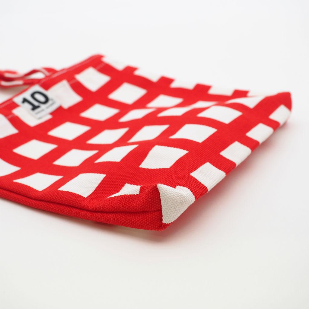 北欧スウェーデン スモールキャンバスバッグ Ripp Red / 10gruppen2