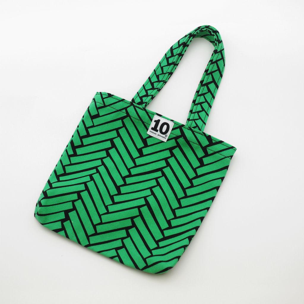北欧スウェーデン スモールキャンバスバッグ Ax green / 10gruppen1