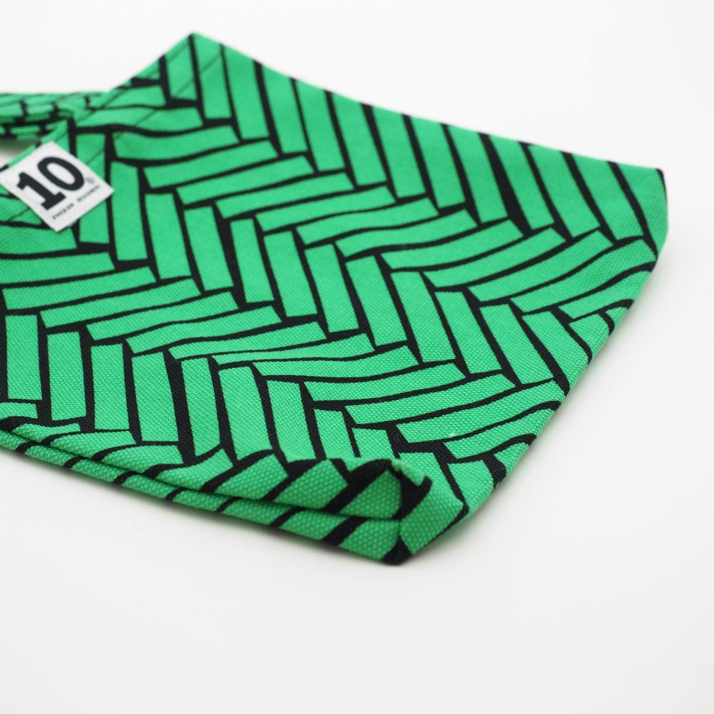北欧スウェーデン スモールキャンバスバッグ Ax green / 10gruppen2