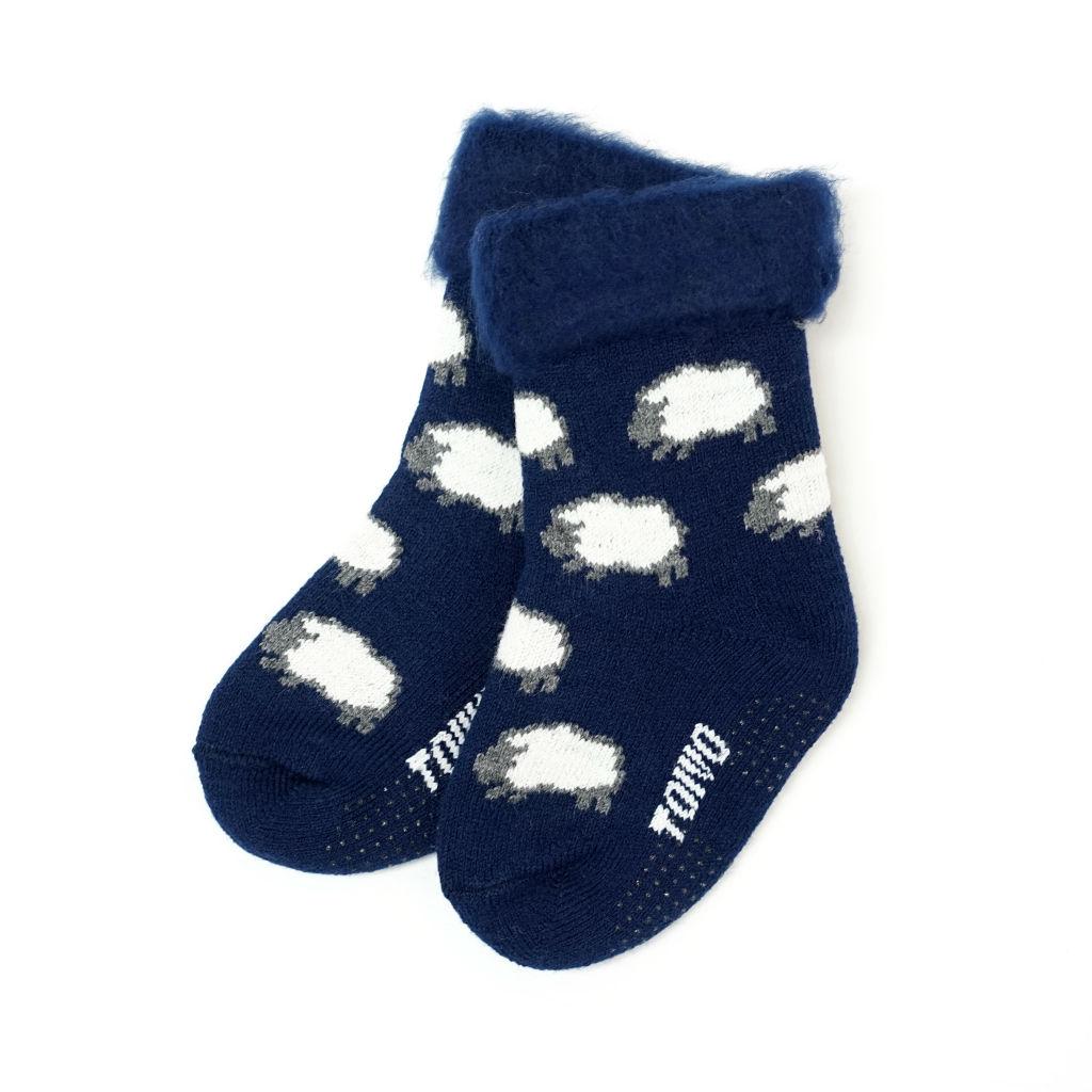 サムネイル:TOIVO(フィンランド製キッズモコモコソックス)キッズ sheep ネイビー