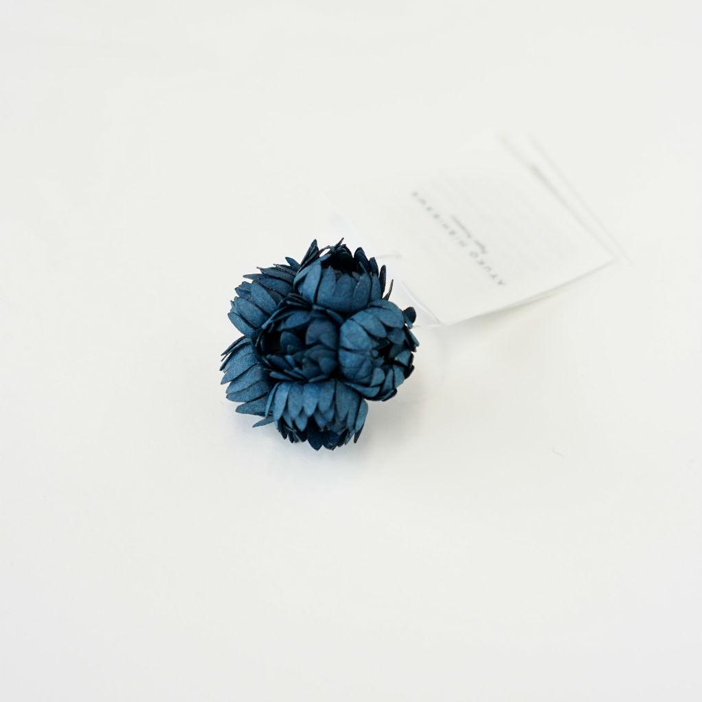 サムネイル:nadeshiko S イヤリング / ピアス ブルー(片耳)AYUKO HISHIKAWA Paper Accessory(SIWA)