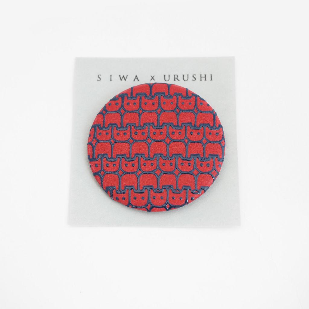 サムネイル:SIWA × URUSHI バッジ 57mm kani SIWA|紙和