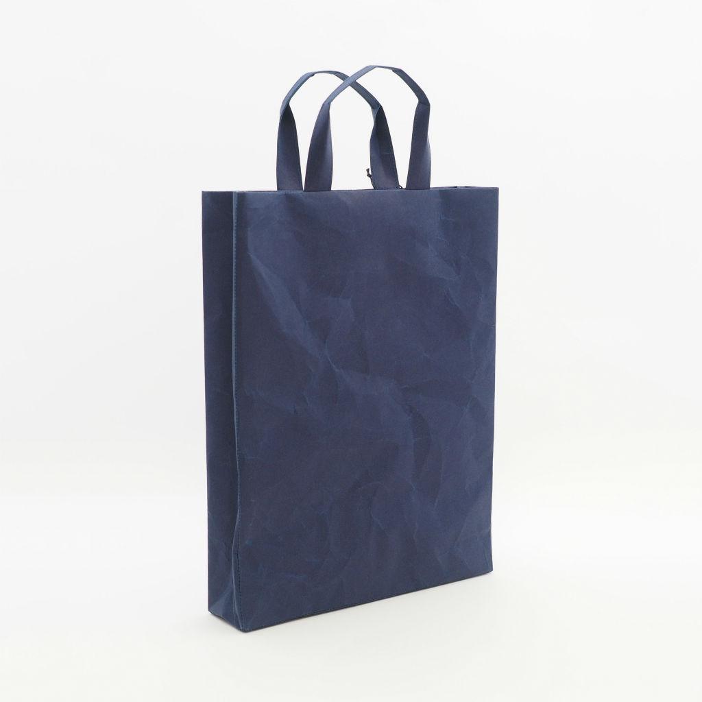 サムネイル:SIWA | 紙和 バッグスクエアA4 ダークブルー