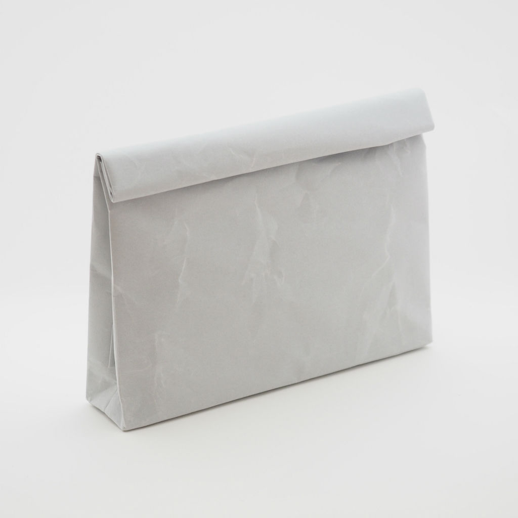 サムネイル:SIWA | 紙和 クラッチバッグ wide グレー