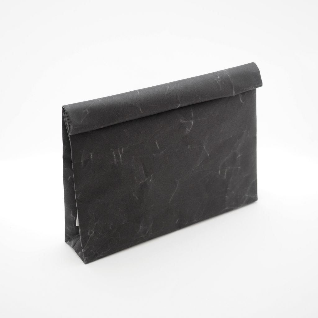 サムネイル:SIWA | 紙和 クラッチバッグ wide ブラック