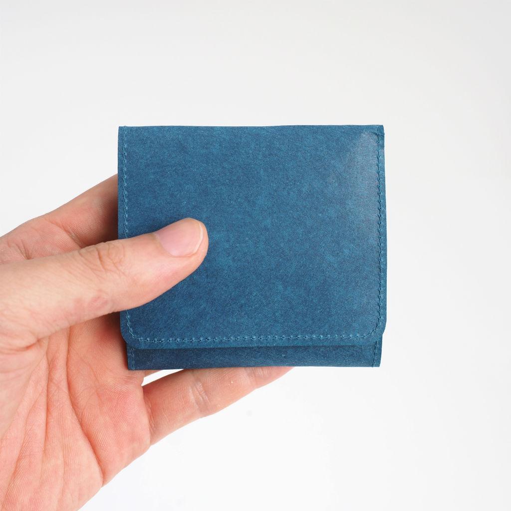 サムネイル:SIWA | 紙和 スナップ付きコインケース ブルー