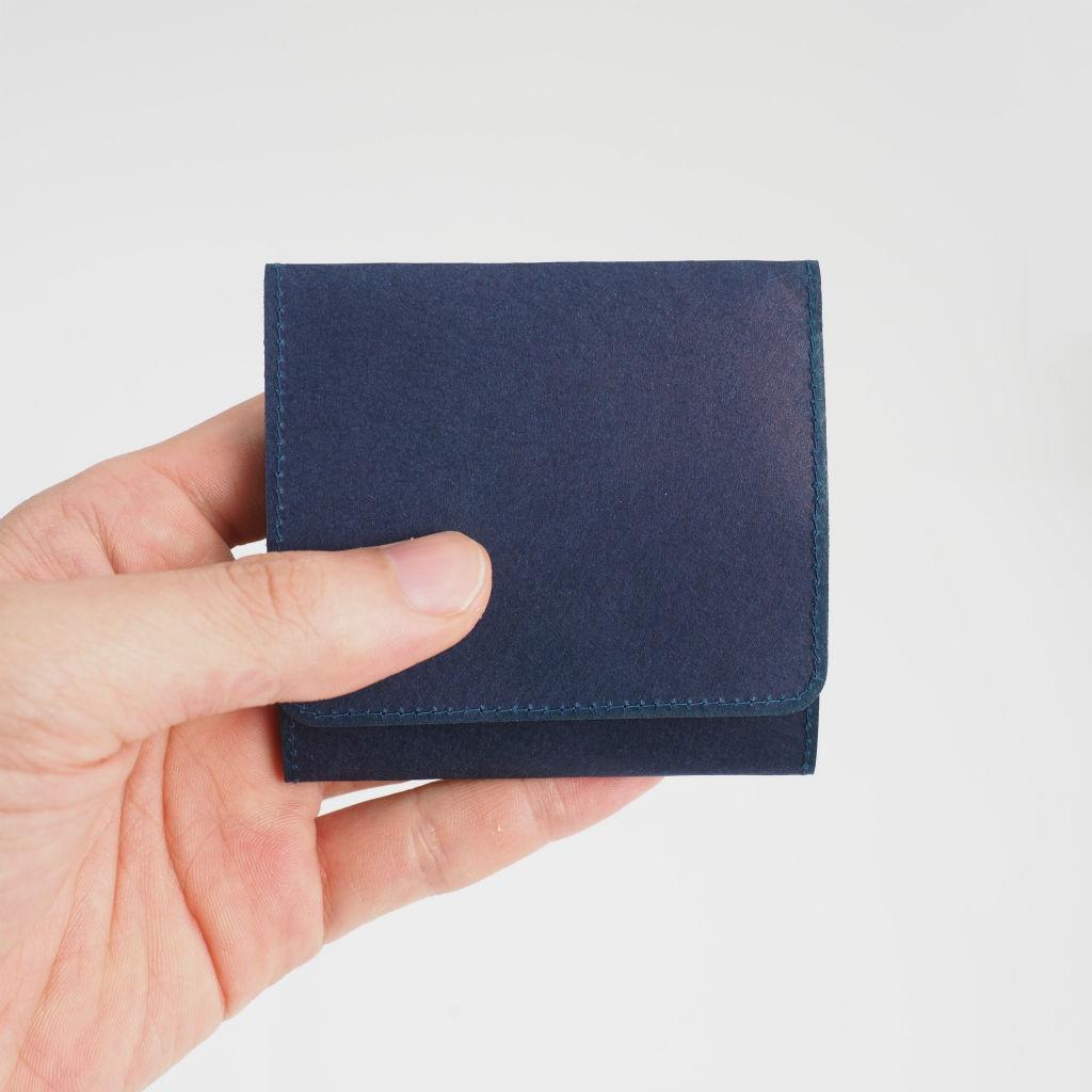 サムネイル:SIWA | 紙和 スナップ付きコインケース ダークブルー