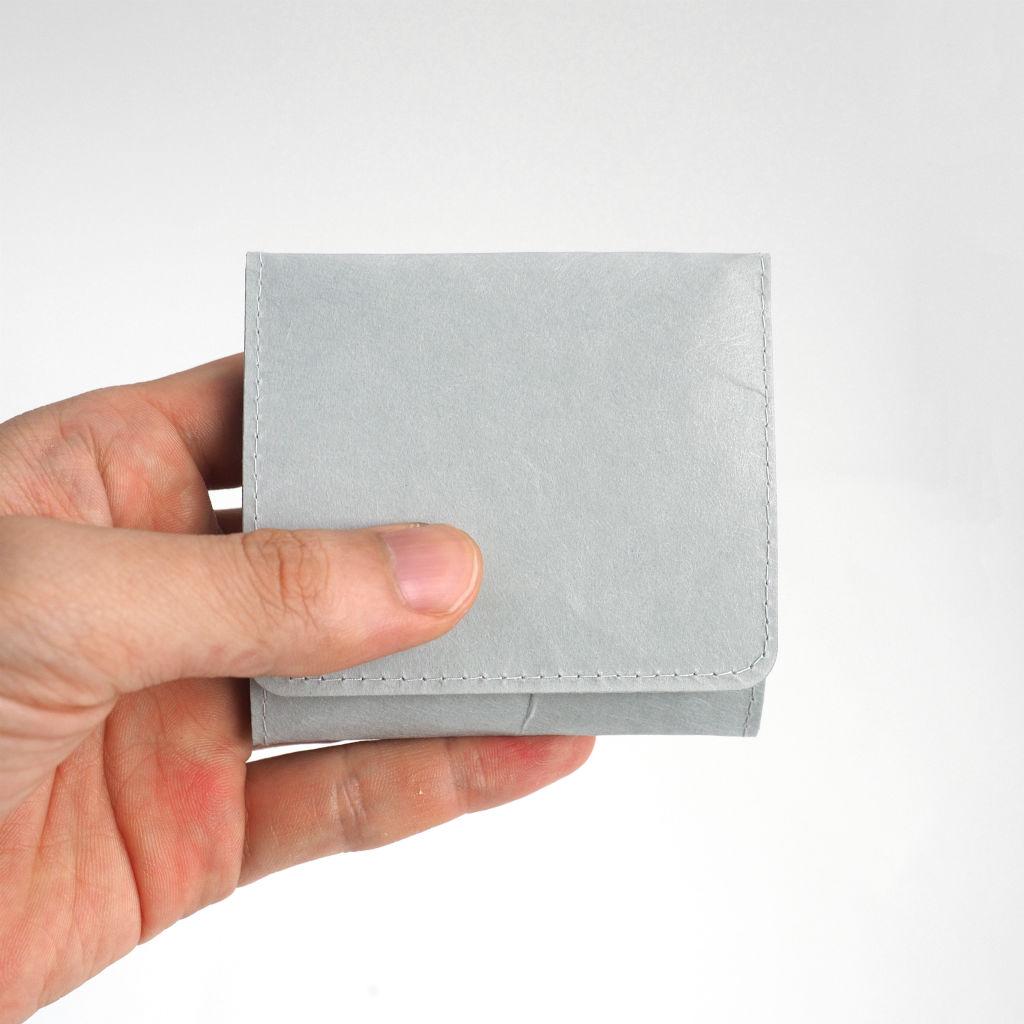 サムネイル:SIWA | 紙和 スナップ付きコインケース グレー