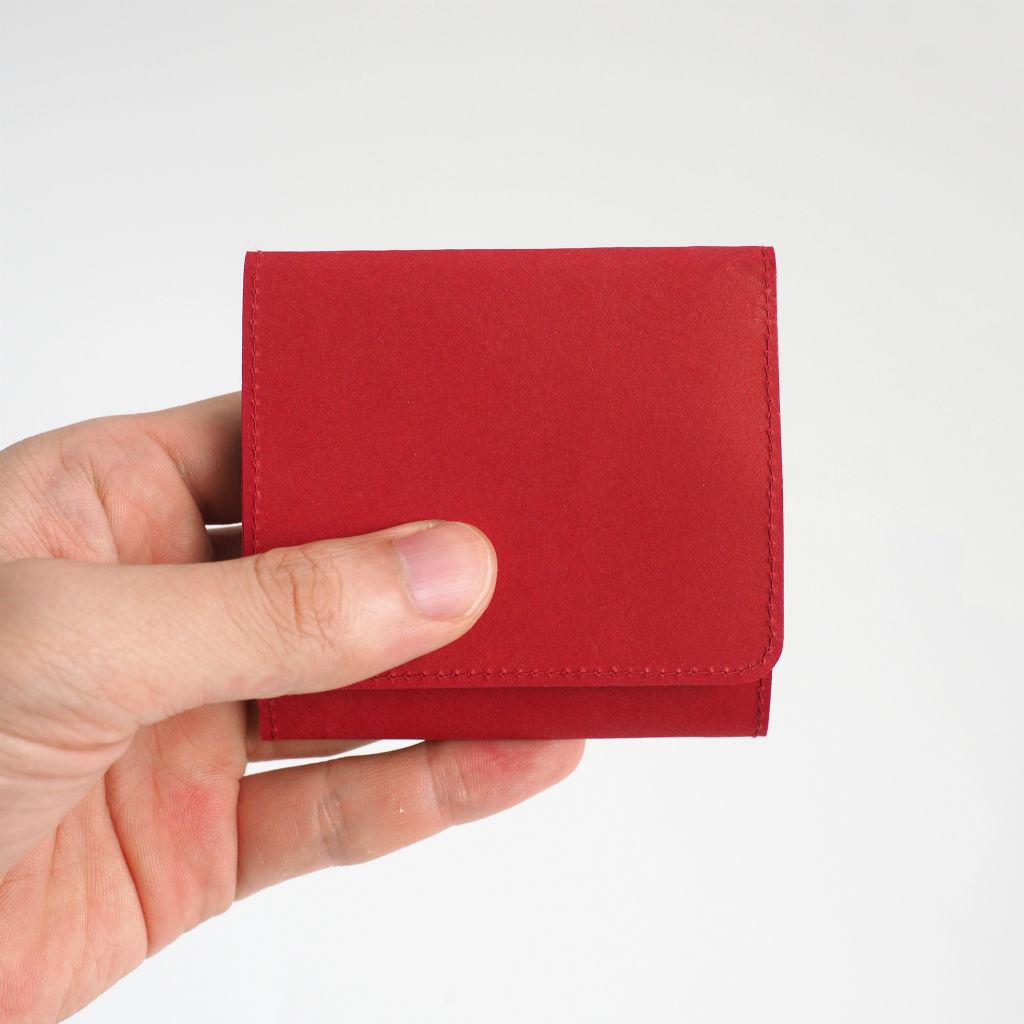 サムネイル:SIWA | 紙和 スナップ付きコインケース レッド