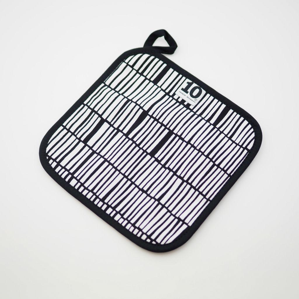 サムネイル:鍋敷き ポットコースター zibidie ブラック/ホワイト 10gruppen