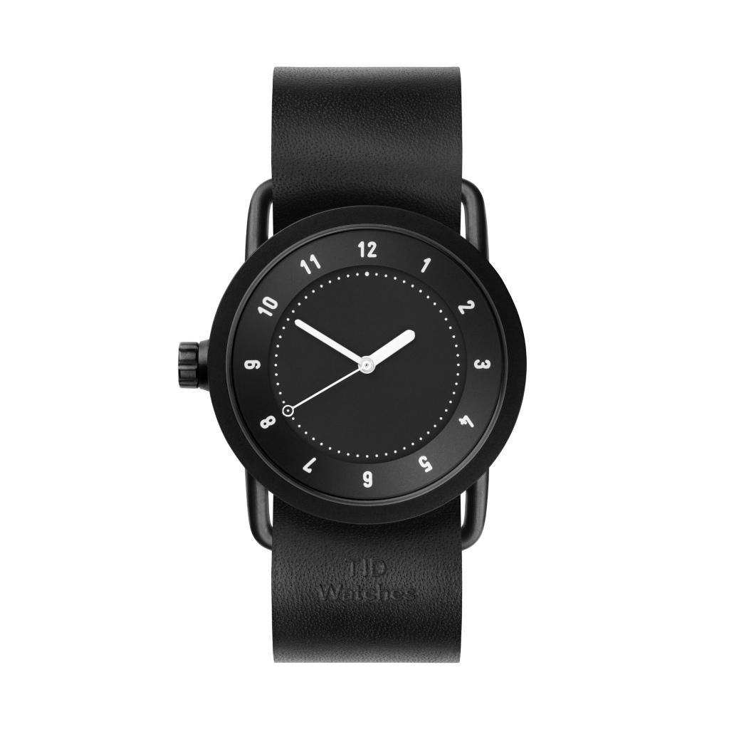 サムネイル:TID Watches ティッドウォッチ No.1 black 腕時計 36mm Black Leather