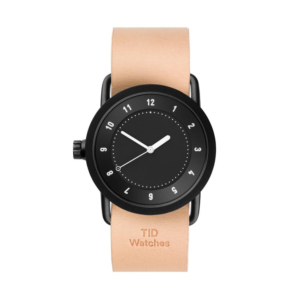 サムネイル:TID Watches ティッドウォッチ No.1 black 腕時計 36mm Natural Leather