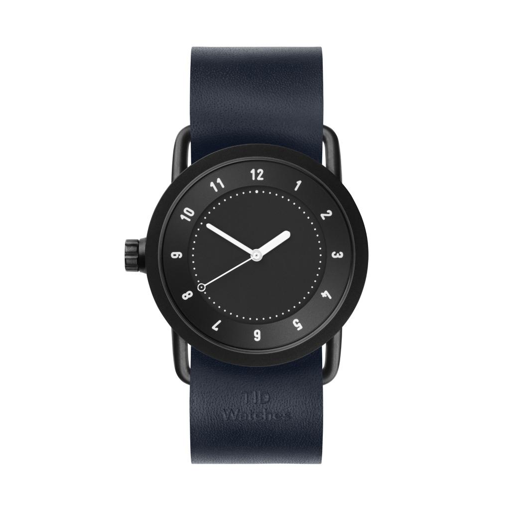 サムネイル:TID Watches ティッドウォッチ No.1 black 腕時計 36mm Navy Leather