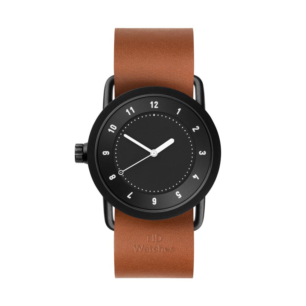 サムネイル:TID Watches ティッドウォッチ No.1 black 腕時計 36mm Tan Leather