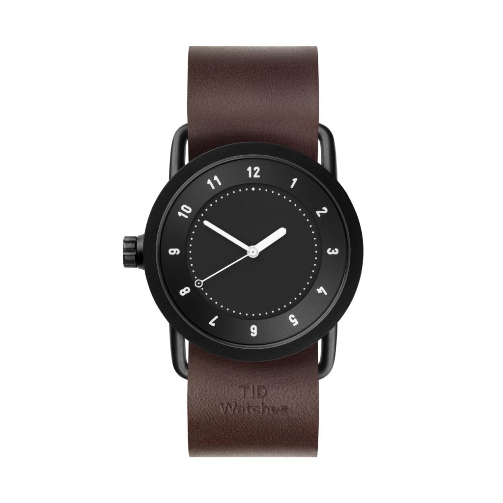 サムネイル:TID Watches ティッドウォッチ No.1 Black 腕時計 36mm Walnut Leather