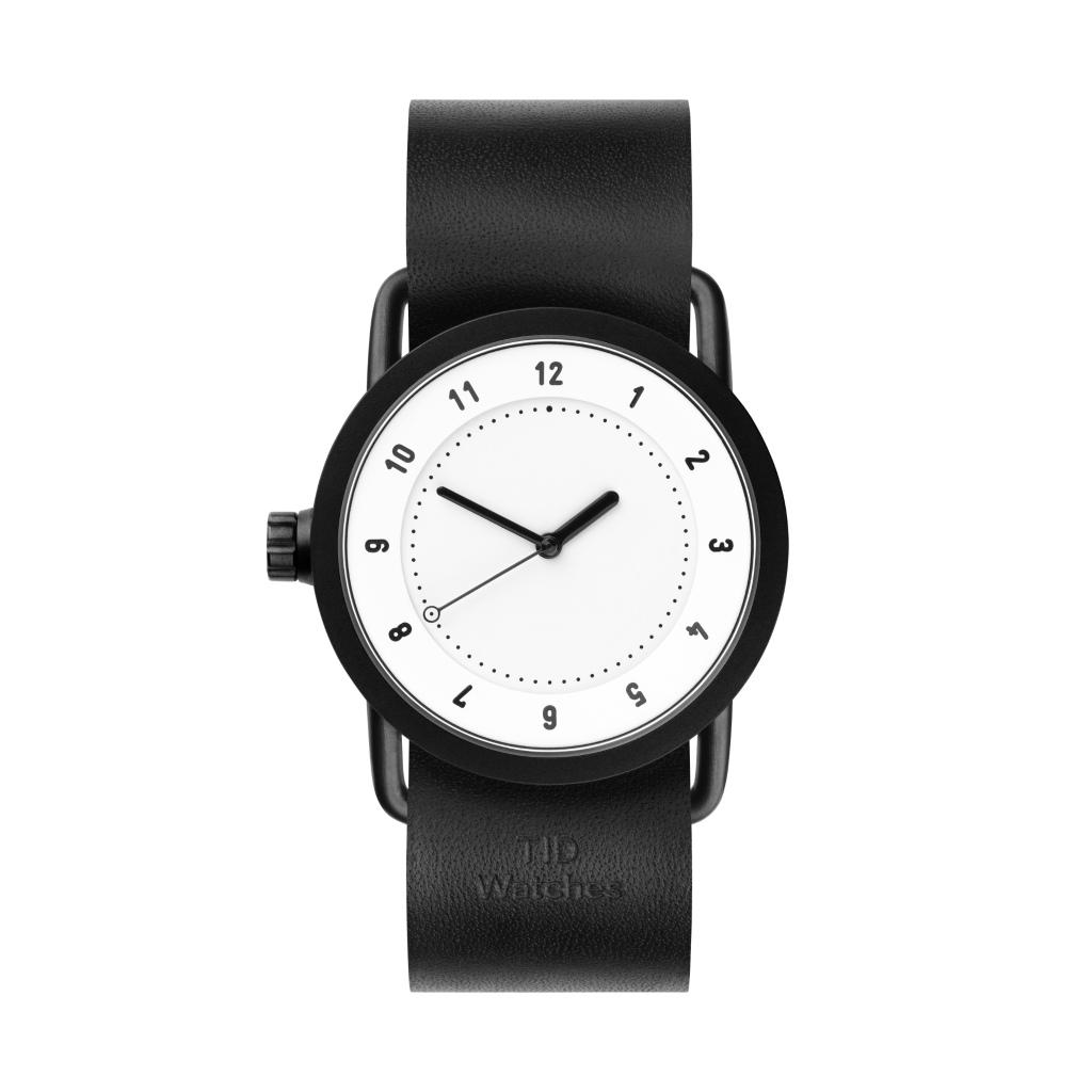 サムネイル:TID Watches ティッドウォッチ No.1 white 腕時計 36mm Black Leather