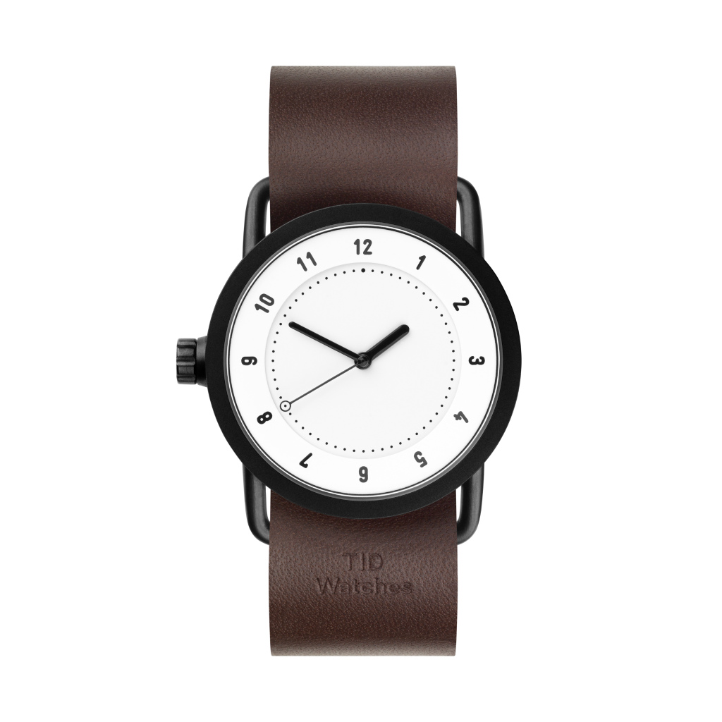 サムネイル:TID Watches ティッドウォッチ No.1 white 腕時計 36mm Walnut Leather