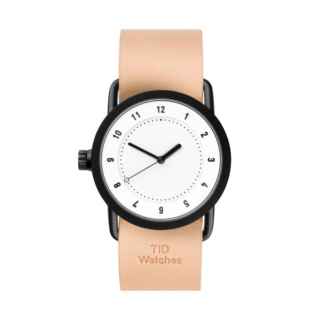 サムネイル:TID Watches ティッドウォッチ No.1 White 腕時計 36mm Natural Leather