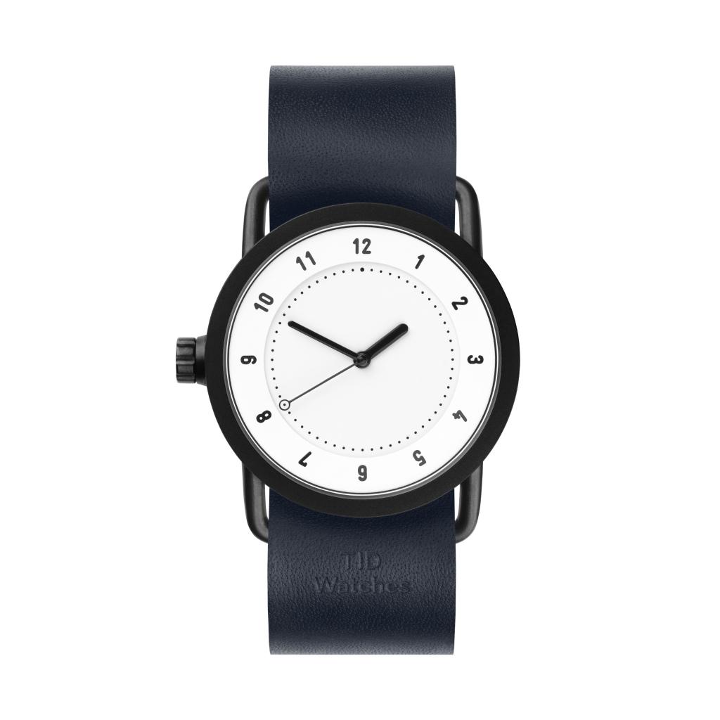 サムネイル:TID Watches ティッドウォッチ No.1 white 腕時計 36mm Navy Leather