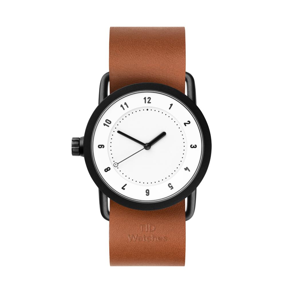サムネイル:TID Watches ティッドウォッチ No.1 white 腕時計 36mm Tan Leather