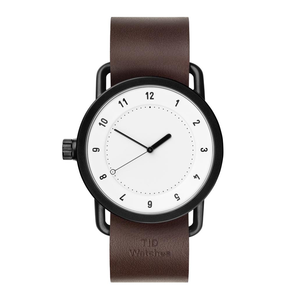 サムネイル:TID Watches ティッドウォッチ No.1 White 腕時計 40mm Walnut Leather