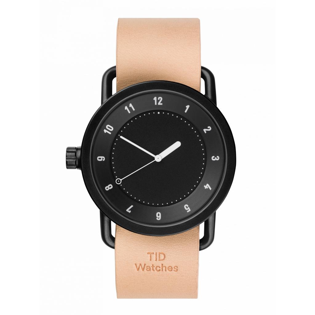 サムネイル:TID Watches ティッドウォッチ No.1 Black 腕時計 40mm Natural Leather