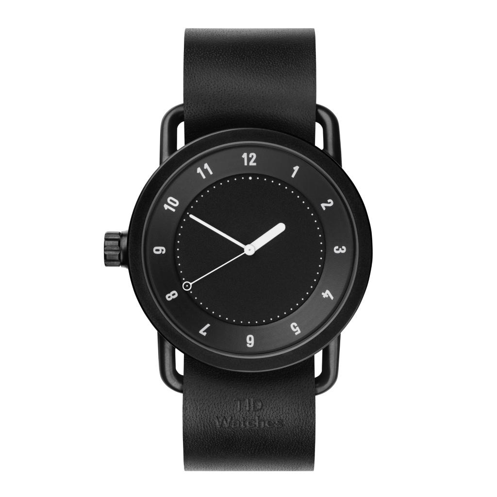 サムネイル:TID Watches ティッドウォッチ No.1 Black 腕時計 40mm Black Leather