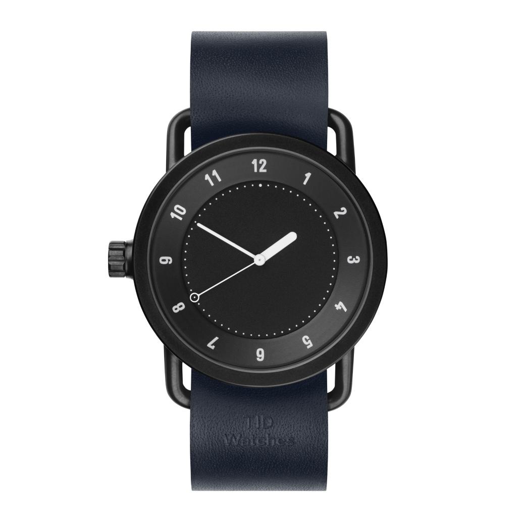サムネイル:TID Watches ティッドウォッチ No.1 Black 腕時計 40mm Navy Leather