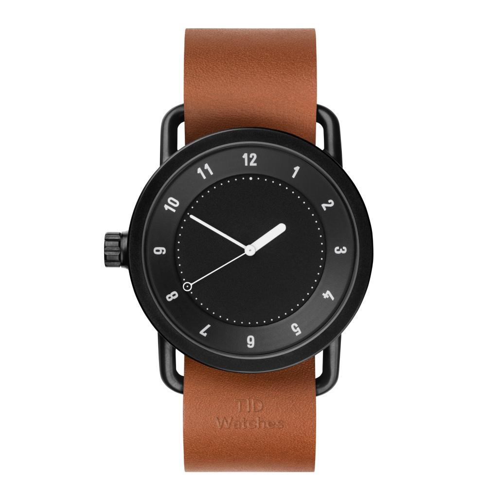 サムネイル:TID Watches ティッドウォッチ No.1 Black 腕時計 40mm Tan Leather