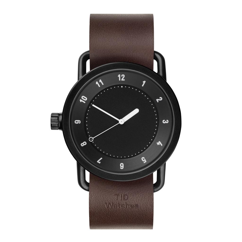 サムネイル:TID Watches ティッドウォッチ No.1 Black 腕時計 40mm Walnut Leather