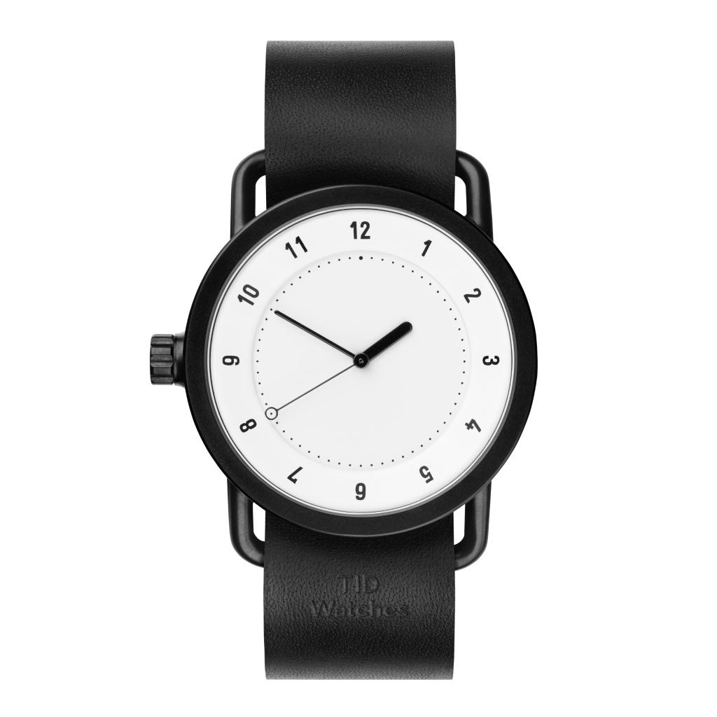 サムネイル:TID Watches ティッドウォッチ No.1 white 腕時計 40mm Black Leather