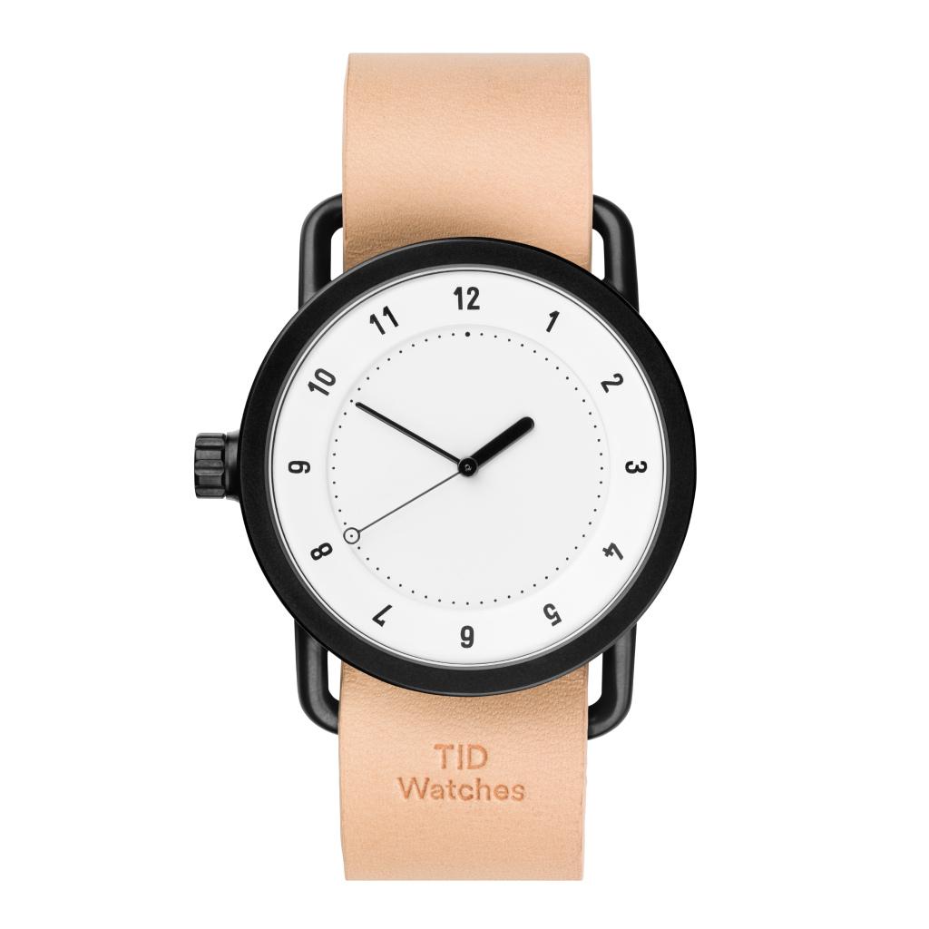 サムネイル:TID Watches ティッドウォッチ No.1 White 腕時計 40mm Natural Leather
