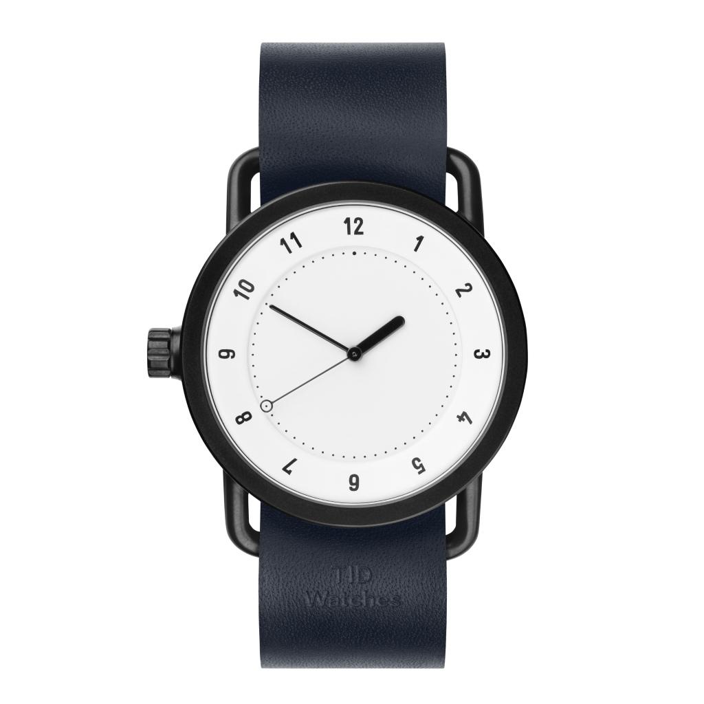サムネイル:TID Watches ティッドウォッチ No.1 white 腕時計 40mm Navy Leather