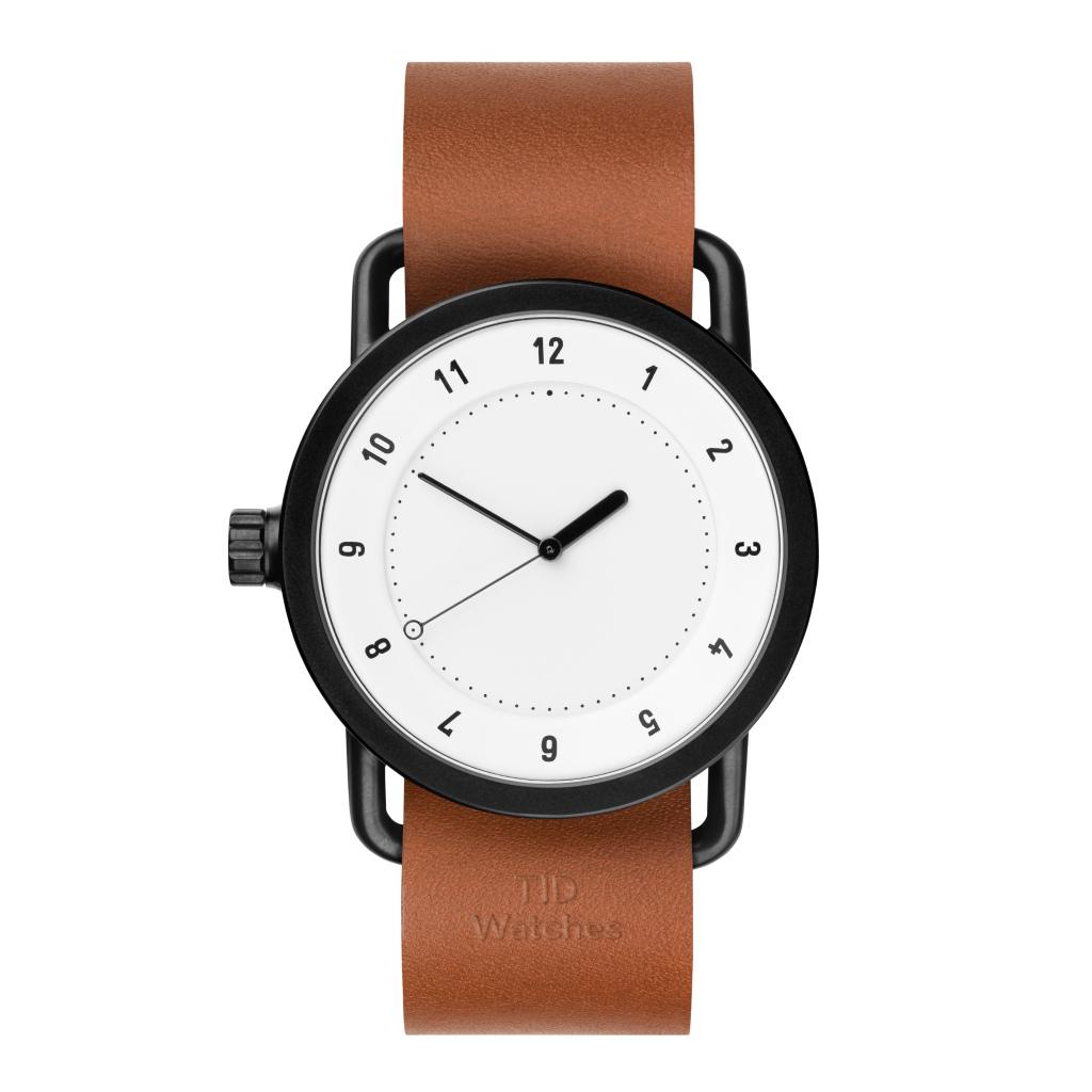 サムネイル:TID Watches ティッドウォッチ No.1 White 腕時計 40mm Tan Leather