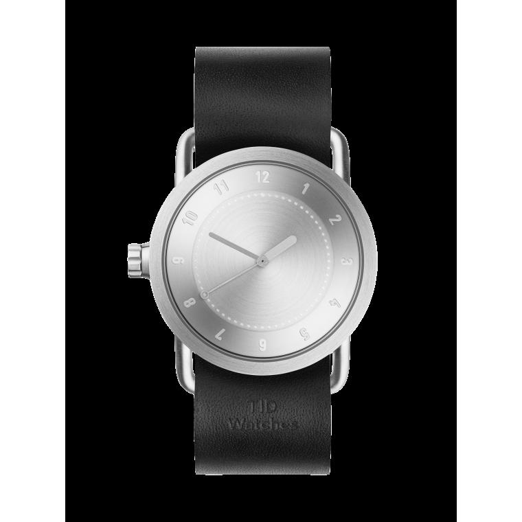 サムネイル:No.1 Steel / Black Leather Wristband 腕時計 36mm TID Watches ティッドウォッチ
