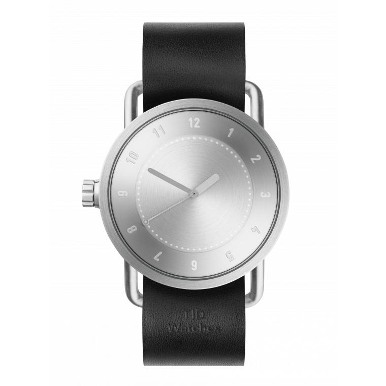 サムネイル:No.1 Steel / Black Leather Wristband 腕時計 40mm TID Watches ティッドウォッチ