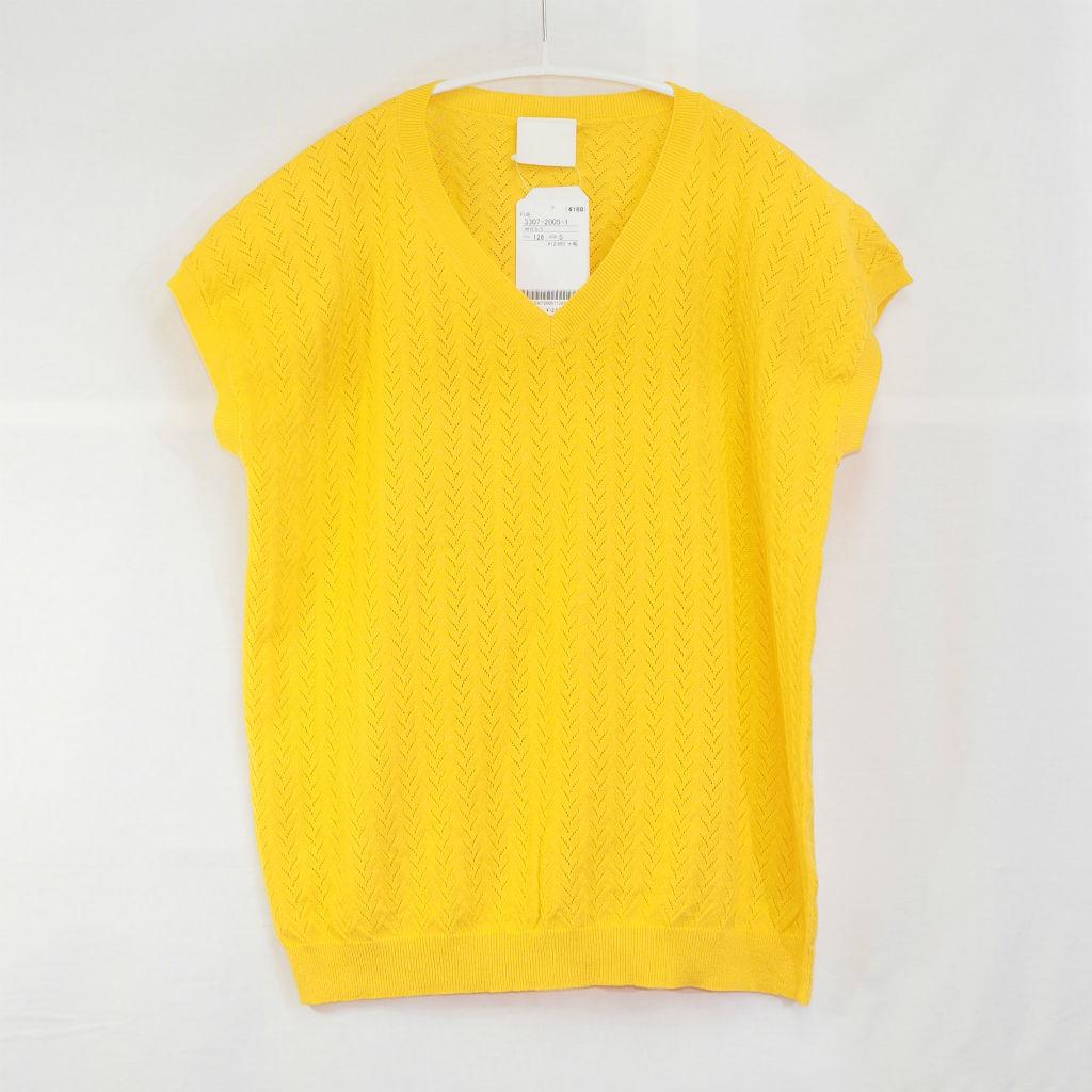 サムネイル:FUB Pointelle T-shirt イエロー