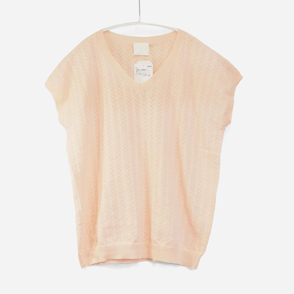 サムネイル:FUB Pointelle T-shirt ピンク