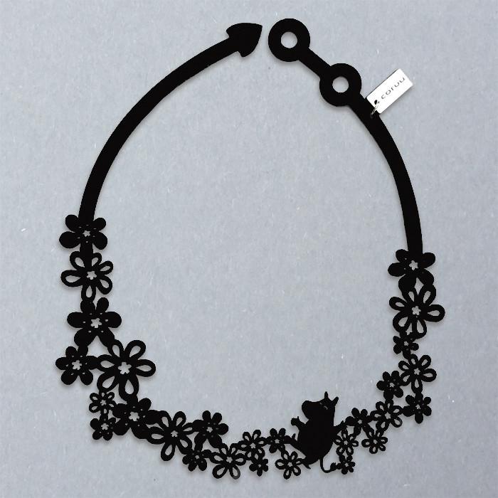 サムネイル:ネックレス ムーミン ブラック MOOMIN NECKLACE BLACK CORUU SILICONE JEWELRY