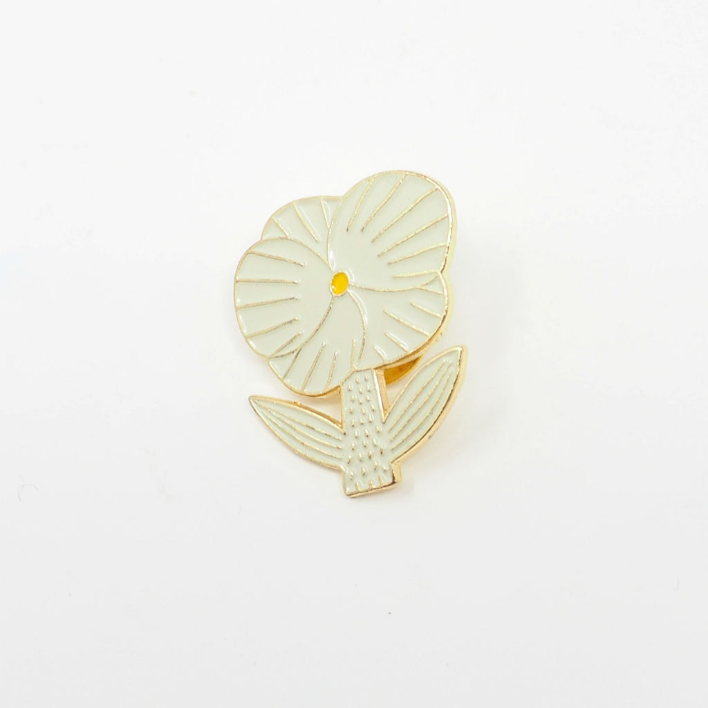 サムネイル:ピンバッジ Pin Badge WHITE / GOLD ZUAN & ZOKEI