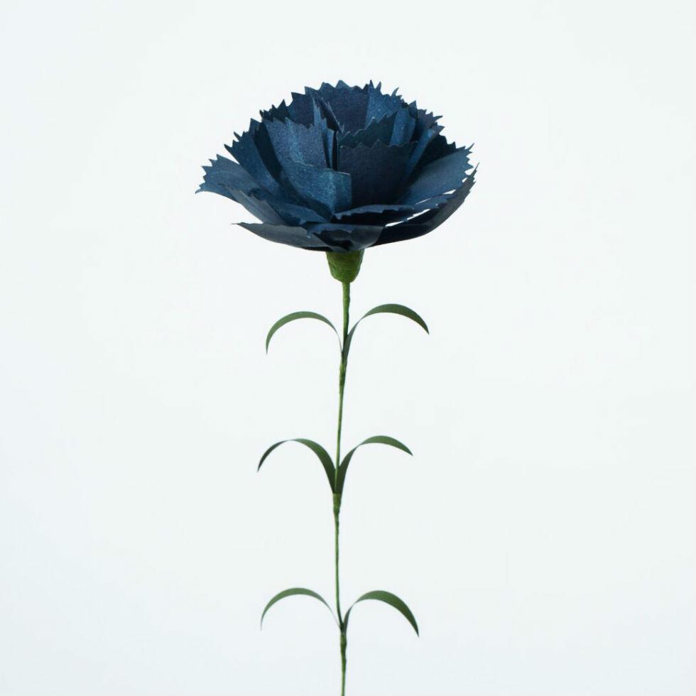 サムネイル:PAPER EDEN  with naoron Carnation dark blue カーネーション ダークブルー