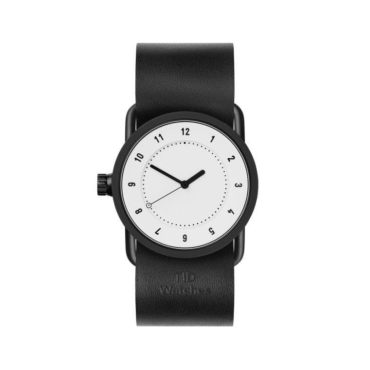 サムネイル:33mm white / Black Leather TID Watches ティッドウォッチ No.1
