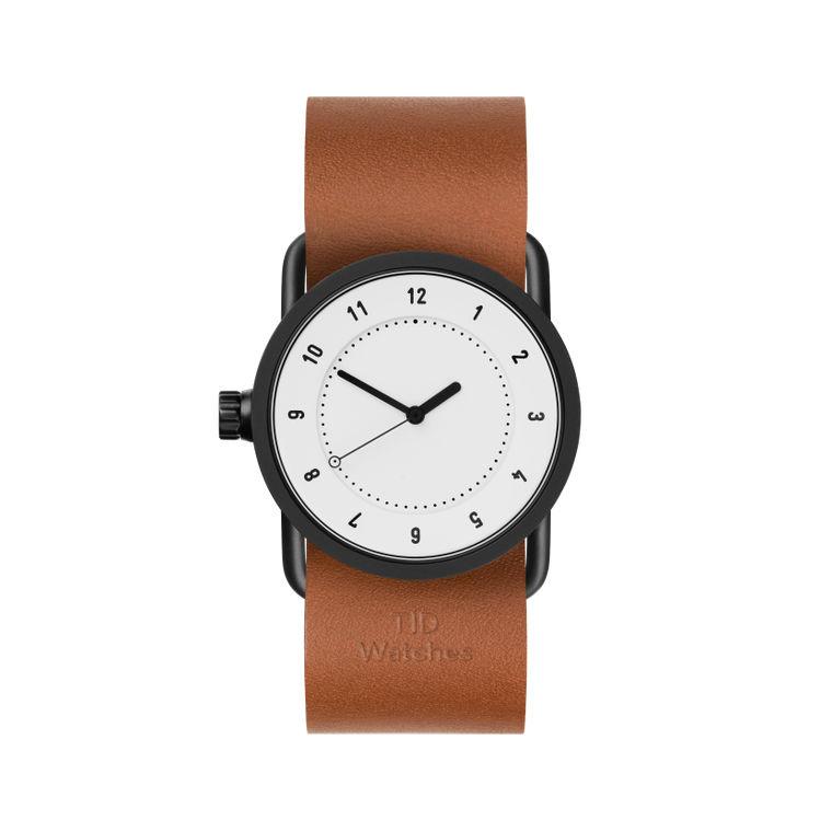 サムネイル:33mm white / Tan Leather TID Watches ティッドウォッチ No.1
