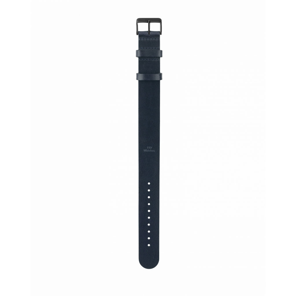 サムネイル:Navy Leather Wristband Black buckle TID Watches ティッドウォッチ