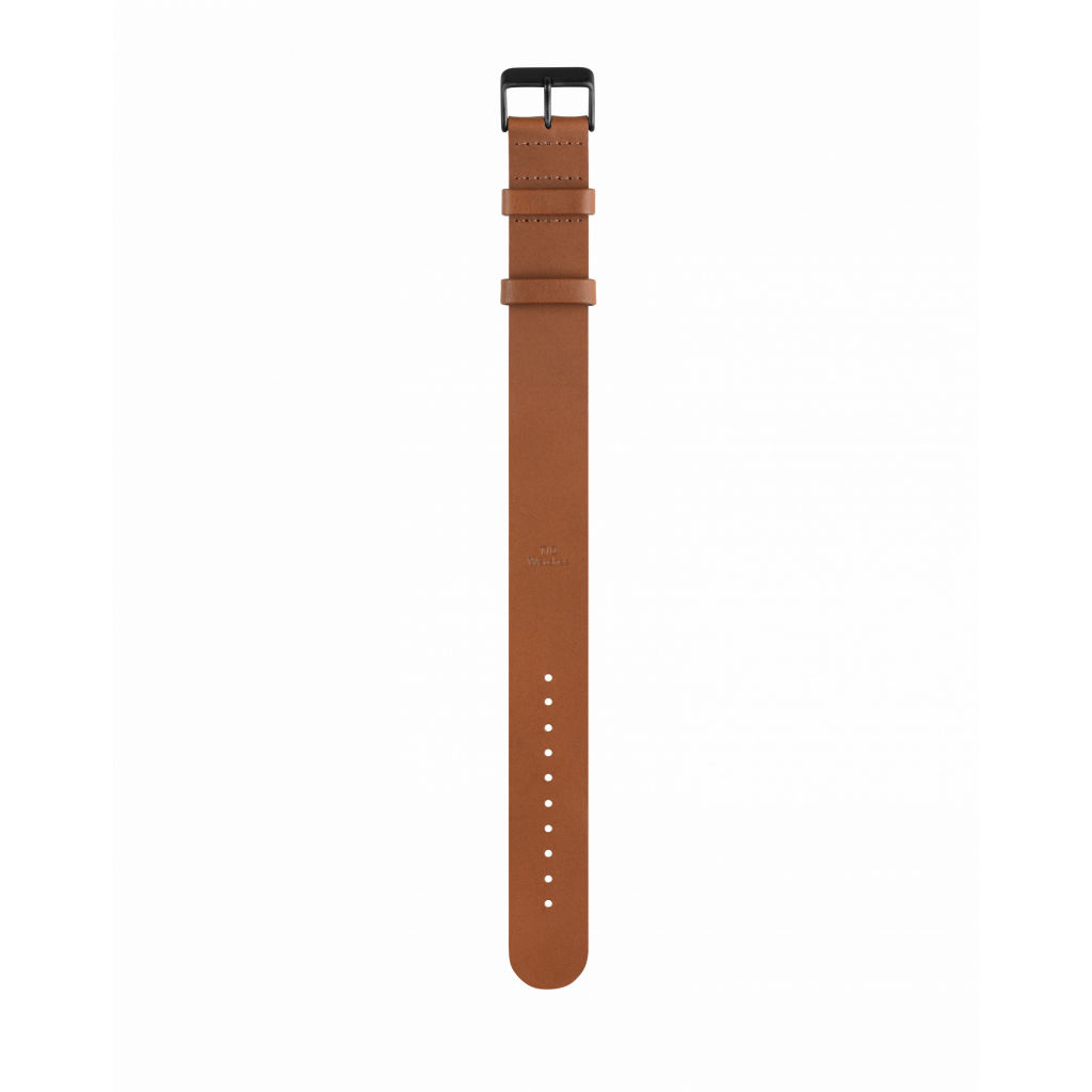 サムネイル:Tan Leather Wristband Black buckle TID Watches ティッドウォッチ