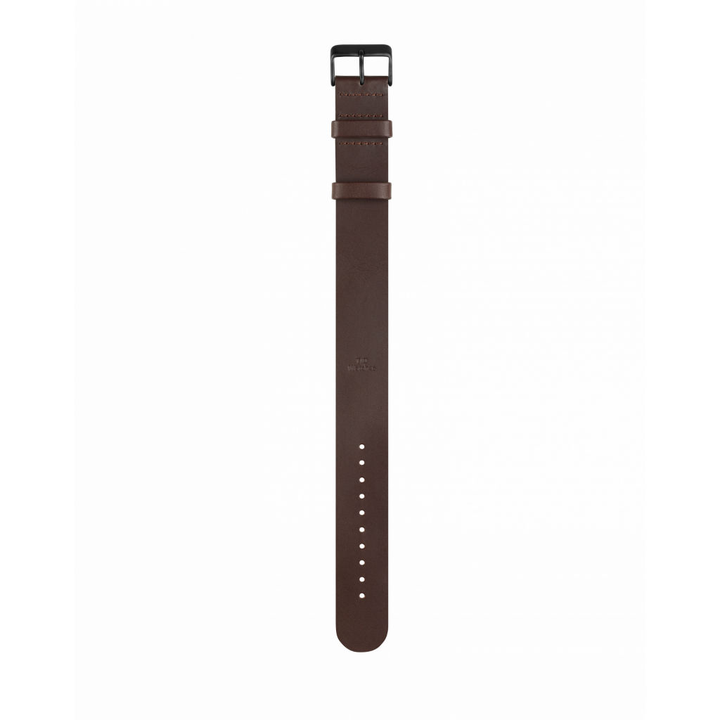 サムネイル:Walnut Leather Wristband Black buckle TID Watches ティッドウォッチ