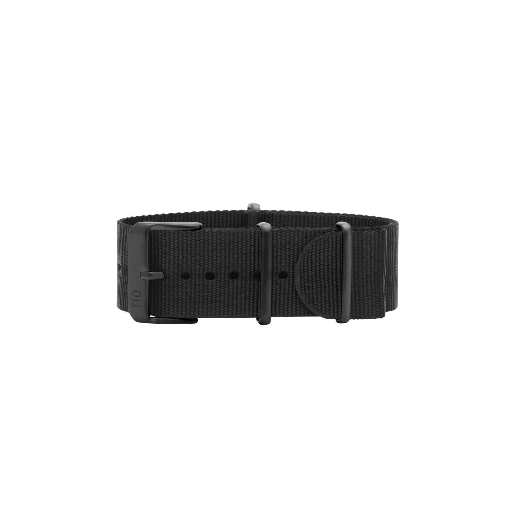 サムネイル:Black Nylon Wristband  / Black buckle TID Watches ティッドウォッチ